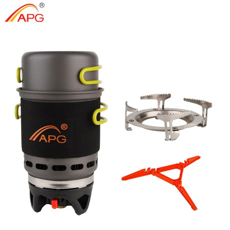 APG Campeggio Pentole Bowl Pot Pan Stoviglie Combinazione Sistema di Cottura A Gas Bruciatori A Gas Propano Fornello Portatile All'aperto