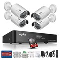 SANNCE HD 960P POE 4PCS 1.3MP IP Network Home Security Camera CCTV System 4CH HDMI NVR Email Alert Surveillance Kits 1TB HDD