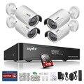 Sannce hd 960 p poe 4 pcs 1.3mp rede ip câmera de segurança em casa Sistema de CCTV 4CH HDMI NVR E-mail Alerta Kits de Vigilância 1 TB HDD