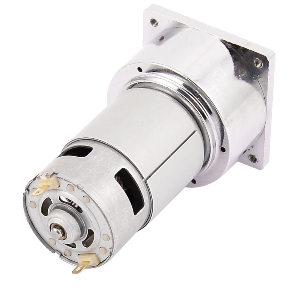 цена на UXCELL DC 24V 100RPM High Torque 8mm Shaft Dia Electric Low Speed Solder Gear Box Motor