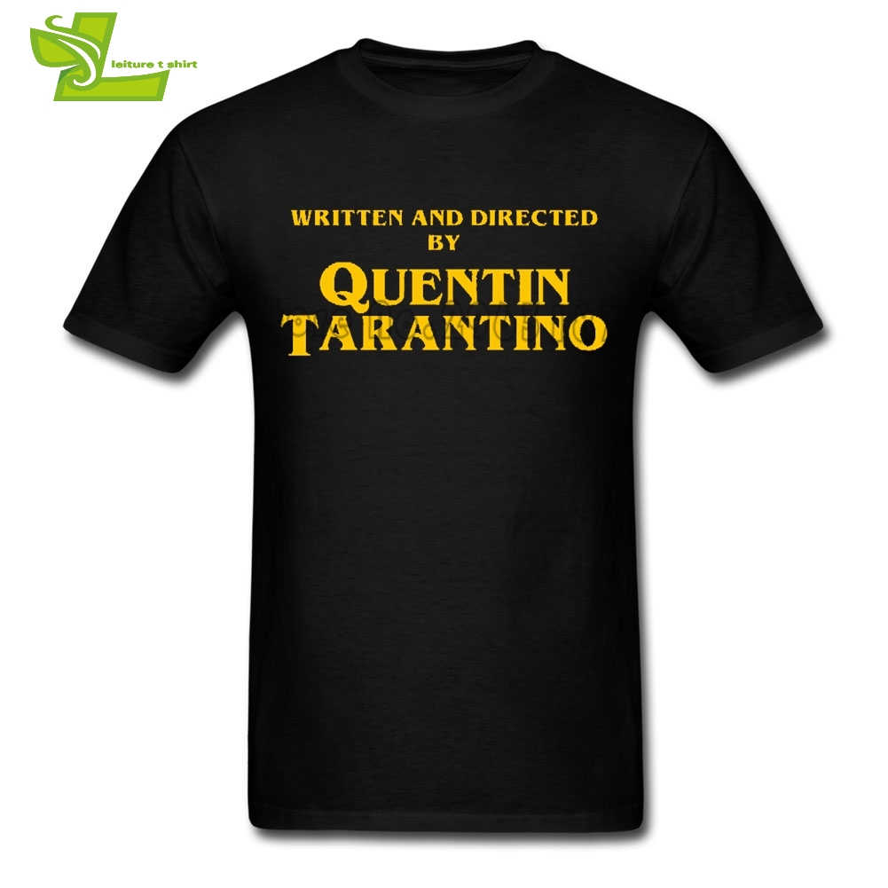 Quentin Tarantino Titles Man T Shirt Printed Normal Loose Tops Boy Summer Round Neck Tees Teenage Latest Simple Tee Shirt