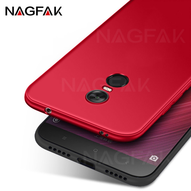 NAGFAK Silicone Phone Case for Xiaomi Redmi Note 4 Note 4X Global Version Note4 Cover Matte Soft Protective Phone Bags Case Capa