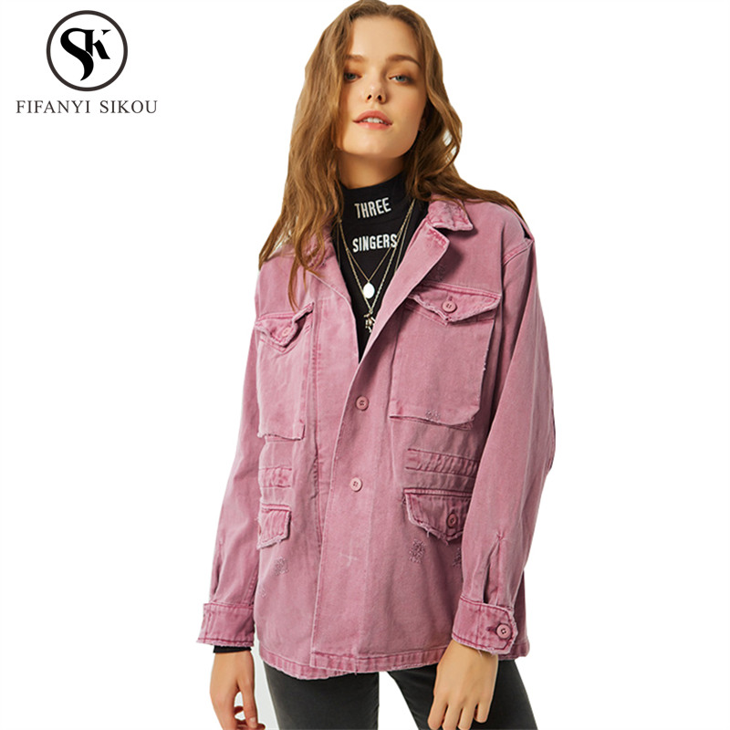 Hiver La Jeans Femmes Base Femme Broderie Harajuku Manteau Veste De Armygreen Casual Mode Lâche Automne pink Camouflage Vestes Denim L376 PdvEdw
