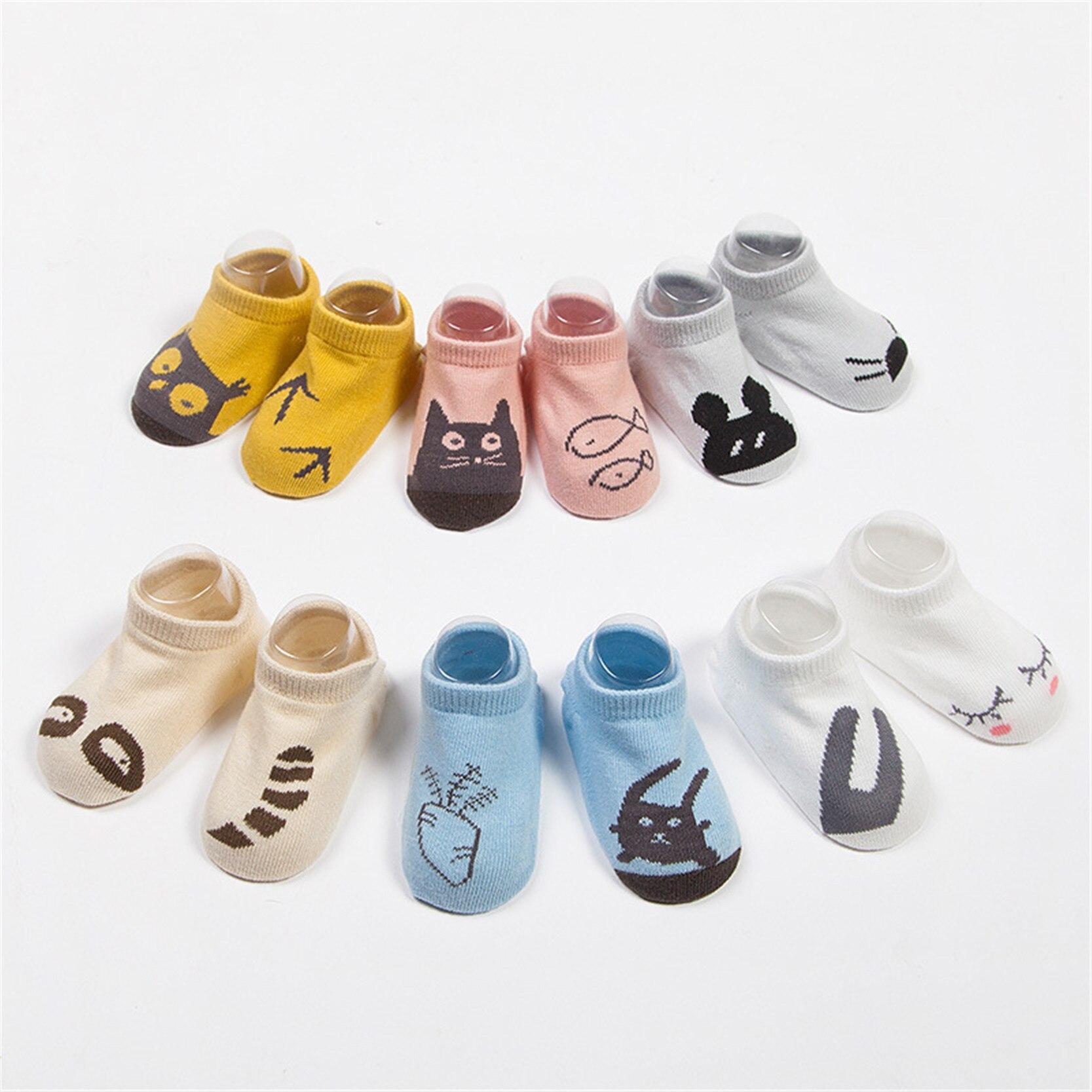 Çocuk Bebek Erkek Kız Bebek Çorap Karikatür Hayvan Sevimli Anti Kayma Pamuk Kısa Ayak Bileği Çorap Bebek 0-24 Için ay