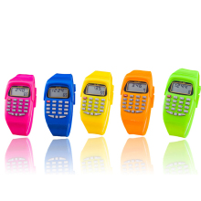 High Quali Fashion Digital Calculator With LED Watch Function Casual Silicone Sports For Kids Children Multifunction