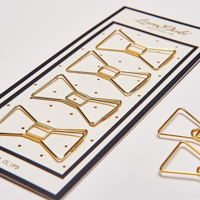 2017 Lovedoki Or Couleur Papier Clips Bookmark Index Clip Accessoires Pour Dokibook Portable Planificateur Intérieure Pages Papeterie Magasin