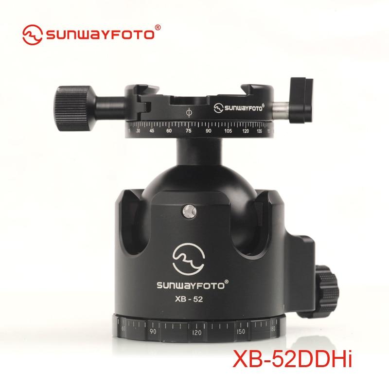 SUNWAYFOTO XB-52DDHI Low-Profile Tripod Head for DSLR Camera Tripode Ballhead  Professional  Monopod Panoramic Tripod Ball Head