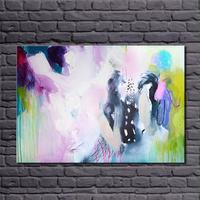 Pure Hand painted Abstract Art 100% Handmade Simple Abstract Oil painting Modern Wall art Picture Paint on Canvas No Frame