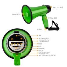 цена на 20W Handheld Megaphone Loud Speaker Amplifier Bullhorn Microphone Loudspeaker Record Play for Guider Teacher Party Presenter