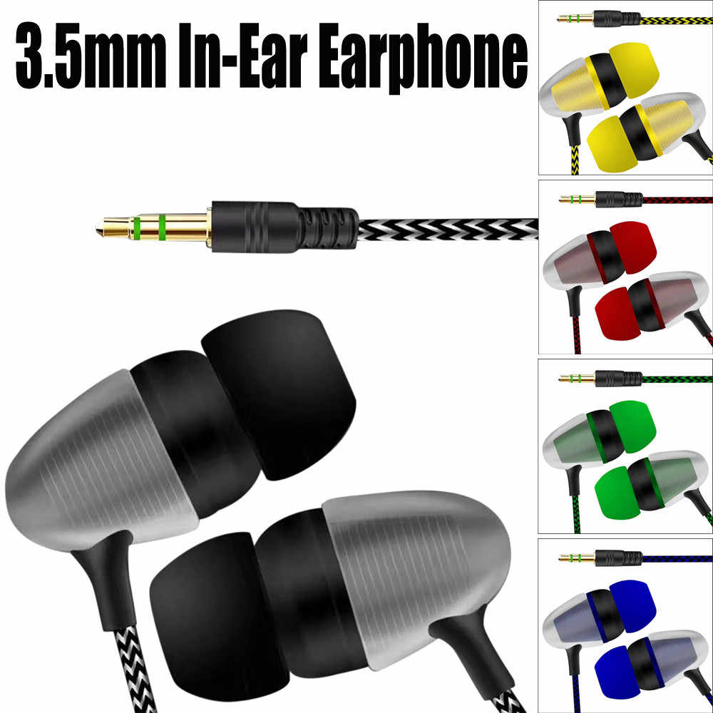 Universal 3.5 Mm Stereo In-Ear Earbud Earphone untuk Ponsel Earphone