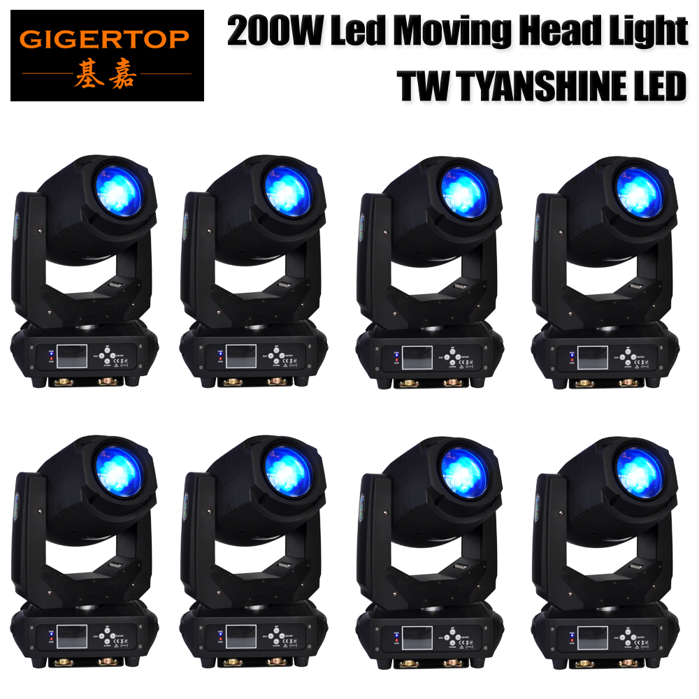 8 Pack 200W Spot Moving Head Stage Lighting Tyanshine led for DJ Disco Club Party Dance Wedding DJ Show Bands by DMX Controller rg mini 3 lens 24 patterns led laser projector stage lighting effect 3w blue for dj disco party club laser