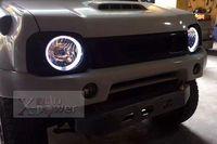 Бесплатная доставка головного света для Suzuki Jimny JB43 угол глаза свет фар 4x4 Offroad аксессуары дымчатый стиль