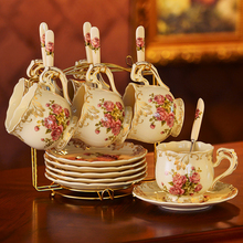 European ceramic coffee cup set British teacup saucer afternoon tea birthday gift Household drinkware