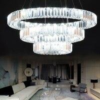 Modern K9 Crystal Living Room Lamp Three Ring LED Duplex Floor Lamp Three Ring Crystal Lamp