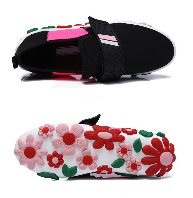 Chaussures Semelle rouge Confortable Appartements Printemps Mujer Mixte Beige Épaisse Dames Fleur Profonde Automne Femmes Mode Peu Zapatos De Respirant Couleur rOwHqTzrnx