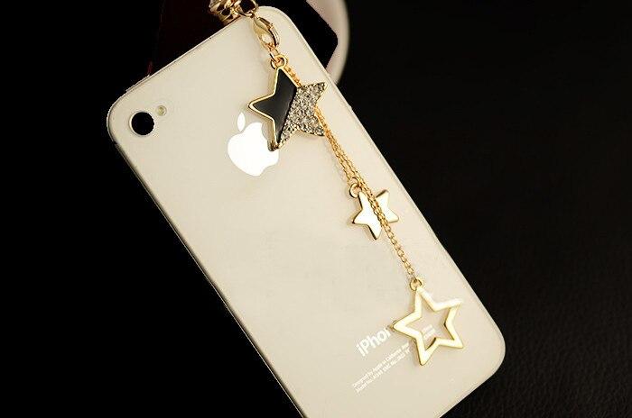 Star Pendant Chain Dustproof Plug Caps Cell Phone Accessories 3.5mm Earphone Ant