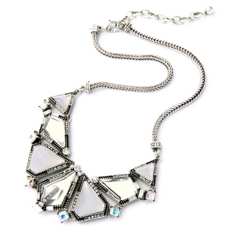 7c0d82a5d6d2 2017 nueva exagerada Crystal choker collar declaración chunky collar moda  geométrica Collar para las mujeres marca joyería