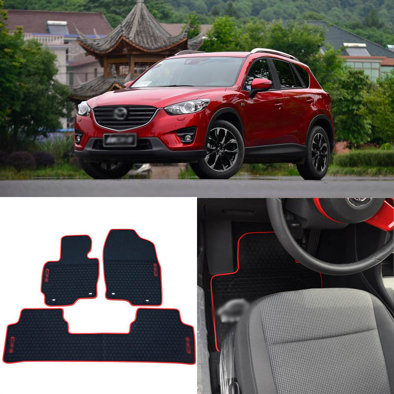 Alta Qualidade Full Set All Weather Heavy Duty CX-5 Preto Tapetes De Borracha Para Mazda