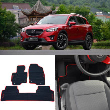 High Quality Full Set All Weather Heavy Duty Black Rubber Floor Mats For Mazda CX-5 for audi q7 2015 2019 rubber floor mats into saloon 5 pcs set seintex 86854