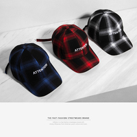INFLATION Herren Brief Stickerei Einstellbare Plaid Tartan Baseball Männer Hut Hysterese Hip Hop Streetwear Mode Kappe 087CI2017