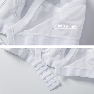 Image 5 - Gratlin נשים בתוספת גודל Wirefree כותנה יולדות סיעוד חזיית Softcup תחתוני שינה