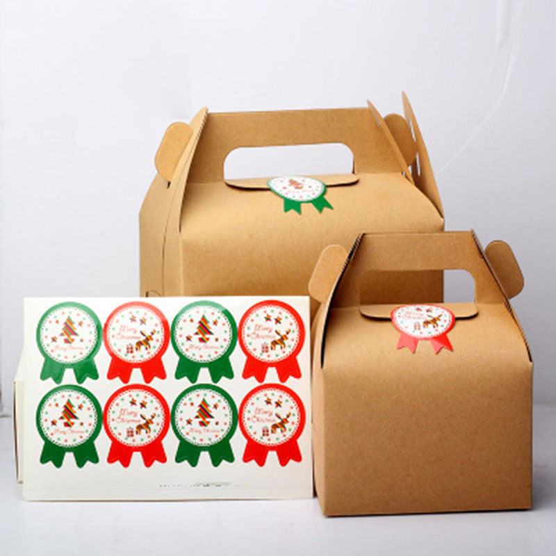 10 sheet christmas snowman gift boxes bags sealing sticker xmas new year gift decorative santa claus cake label stickers