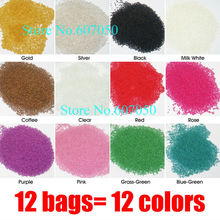 12Mixed Colors X50g/bag Mini Small Ball Beads for Nail Art-Free Shipping Wholesales