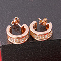 TS Jewelry Rose Gold Plated Zirconia Hinged Hoop Creoles Earrings, Thomas   Style Jewellery Gift Creolen earings for Women