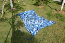 2M*6M blue filet camouflage netting camo mesh roof gazebo Netting decoration for party and camping