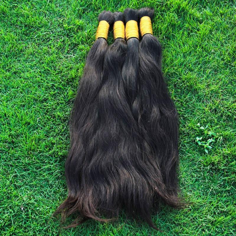 8A Straight Virgin Brazilian Hair Bulk Braiding Brazilian Straight 1KG Bulks Braiding Hair Virgin Human Hair Bulk 14-34 Inche