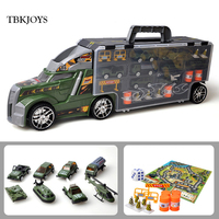 54CM Metal Alloy Truck Toy Big Cartoon Vehicle Diecast Car Model Fire Truck Military Collectible Cars Toys Gifts For Children
