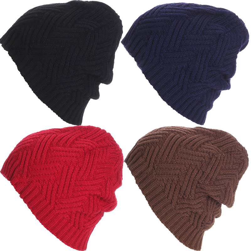 Fashion Hat Knit Beanies Cross Knit Beani Winter Skiing Outdoor Cap Warm Solid Hats For Men Women Unisex 88  -MX8 women s winter hats for men skullies beanies warm cap fashion solid colors outdoor caps unisex elastic beanies kintted wool hat