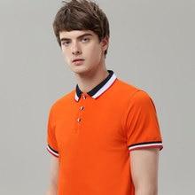 Дышащая брендовая рубашка Новое поступление рубашки поло с короткими рукавами для мужчин и женщин классический дизайн v-образхлопковые v-образные вырезы