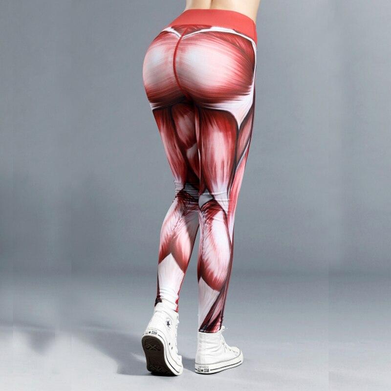 New Hotsale ! Quality Women Muscle Power Print   Leggings   Thick Elastic Female Gymming Sporting Dropshipping Girl   Leggings