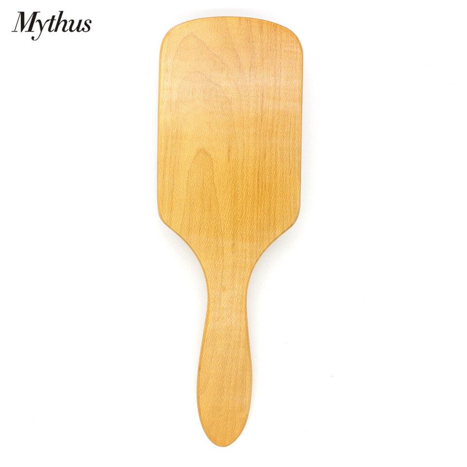 Mythus Paleta de madera Cepillo de pelo Cepillo de aire Cushion Brush - Cuidado del cabello y estilo - foto 5