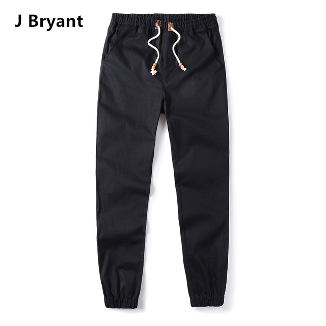 Black Joggers Mens Jogger Pants Men Joggers Stretched Jogger Pants Cotton Fashion Trousers Drawstring Black Color Pants