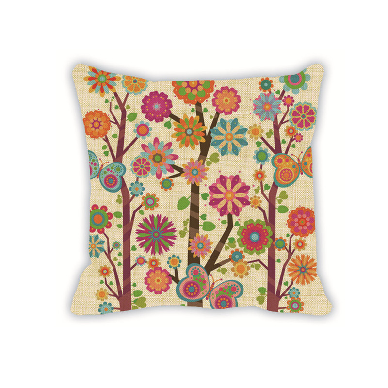 funda de cojn impreso bohemio plata cojn almohadas decorativas para el sof cojines funda de cojn
