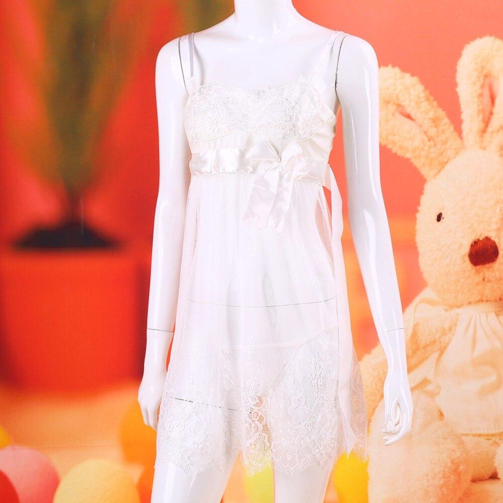 New Bow Women Sexy Lingerie Hot Erotic Open Bra Lace Lingerie Dress Costume Babydoll Lenceria Sexy Underwear Sleepwear Plus Size