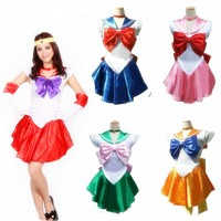 2017 Women S Anime Sexy Sailor Moon Costume Cosplay Dress For Girl Halloween Game Stage Bar