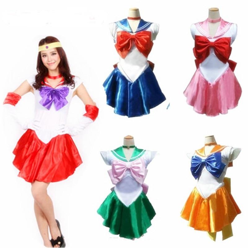 2018 Frauen Anime Sexy Sailor Moon Kostüm Cosplay Kleid Für Mädchen