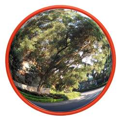 Safurance 60 cm Wide Angle Security Curved Convex Road Mirror Traffic Driveway Roadway Safety Traffic Signal