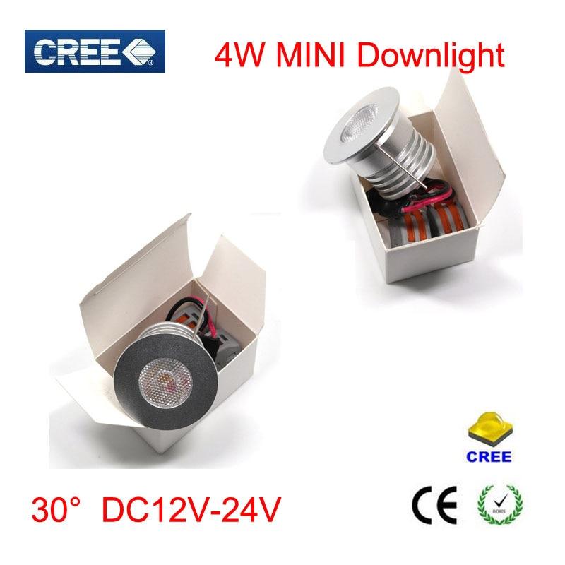 10pcs / lot 4W condus lumina spot mini condus lumina 12V 30 grade alb - Iluminat cu LED