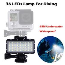 Underwater 45M Diving Lamp Waterproof Flash Light For GoPro Hero7 5 4 Hero3 Xiaomi Yi 4K Lite mijia SJCAM SJ6 SJ7 SJ4000 Camera lanbeika action camera bag case box for sjcam sj6 sj7 sj4000 sj4000 sj5000x sj5000 m10 m20 sj6 sj7 gopro eken camera bag