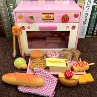 1 Set Wooden Toy Pretend Play Toy Simulation Magnetic Microwave oven Wood Kitchen Food Baby Infant Toy Food Birthday Gift D141