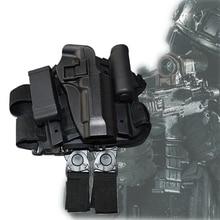 Blackheart CQC Beretta Pouzdro na pouzdro na pouzdro Pistole na nohy pro Beretta 92 96 Barva písku a černá