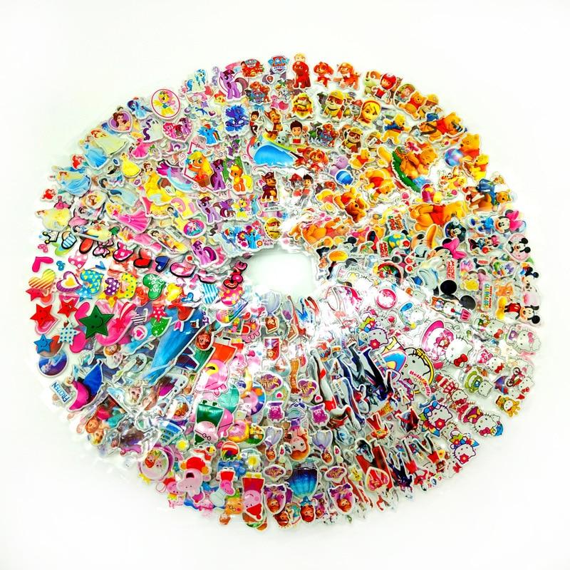 10 Stks/partij Kids Cartoon Stickers Speelgoed 3d Waterdichte Jongens Meisjes Bubble Stickers Om Pen Doos Schooltas Leerboek Stickers Tegen Elke Prijs