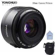 YONGNUO 35mm YN35mm Lentille F2 1:2 AF/MF Large-Angle Fixe/Premier Auto Focus Lens Pour Canon Nikon Caméra