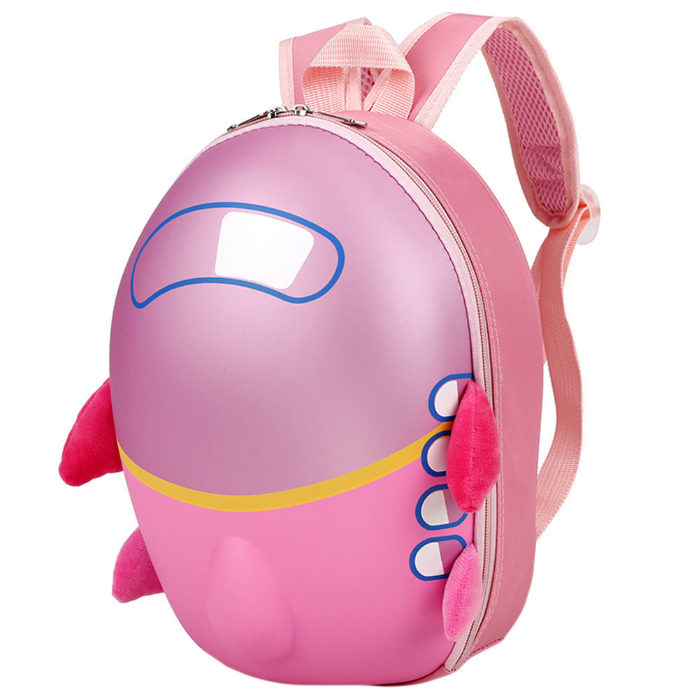 Cute Egg Shell Kids Backpack Plastic+Polyester Students Toddler School Bag Unisex Boys Girls Airplane Satchel School Bags sale one2 design colorful 600d polyester school bag laptop backpack ice cream for university students women man teenager boys girls