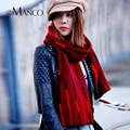 Popular Stripe Weave Cachecóis de Lã Mulheres & Homens Engrossar Gola Outono Inverno Cachecol Laço