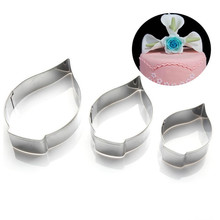 3pcs/set Calla Lily Cookie Cutter 3D Sugarcraft Fondant Cake Pastry Biscuit Baking Mold DIY Cake Decorating Tools ttlife 2pcs set stainless steel lily flower cookie cutter biscuit fondant cake decorating mold baking pastry tool diy sugarcraft